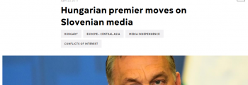 Hungarian premier moves on Slovenian media